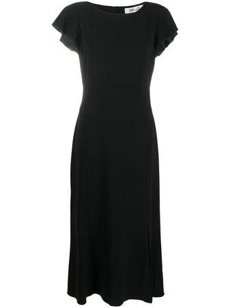 Shop black DVF Diane von Furstenberg open back dress with Express Delivery - Farfetch