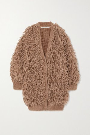 Fringed Wool Cardigan - Bronze