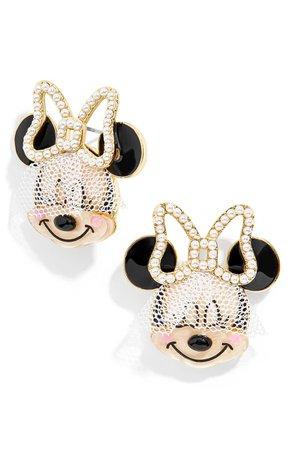 BaubleBar Disney® Bride Minnie Mouse Statement Stud Earrings   Nordstrom