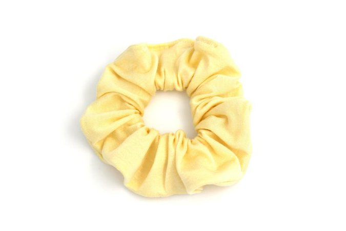 Yellow Scrunchy Hair Scrunchies Light Yellow Hair Scrunchy | Etsy