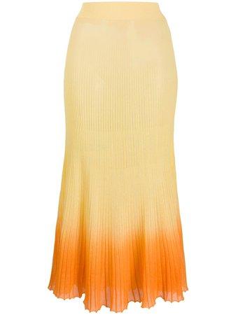 Jacquemus Helado Gradient Knitted Skirt Ss20   Farfetch.com