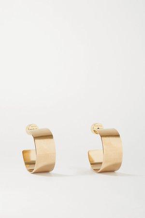 Gold Mini Missy gold-plated hoop earrings | Jennifer Fisher | NET-A-PORTER