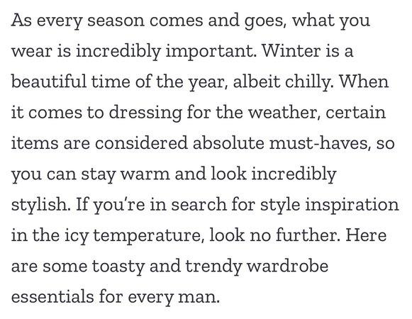 men winter
