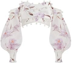 zimmerman corsage bauble blouse bell sleeves floral pink purple white