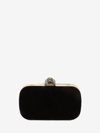Beetle Box Clutch in Black | Alexander McQueen GB