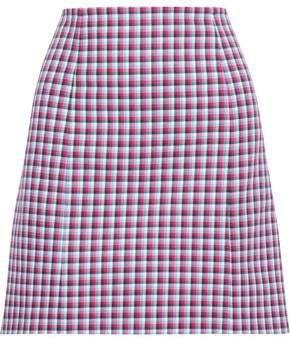 Checked Cotton Mini Skirt