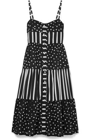 Solid & Striped | Tiered printed voile midi dress | NET-A-PORTER.COM