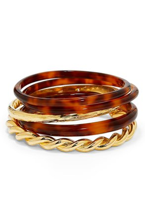 Vince Camuto Set of 5 Mixed Bangles | Nordstrom