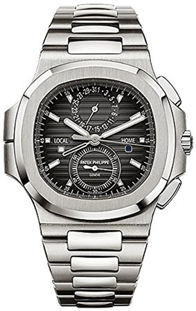 Amazon.com: Patek Philippe Nautilus Travel Time Chronograph Stainless Steel Watch 5990/1A-001: Watches