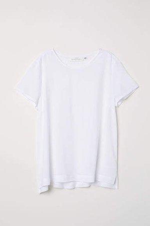 Short-sleeved Blouse - White