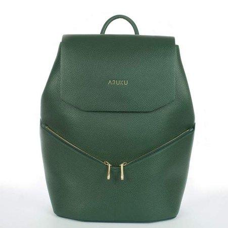 Aruku: Women's Leather Backpack Green | Aruku