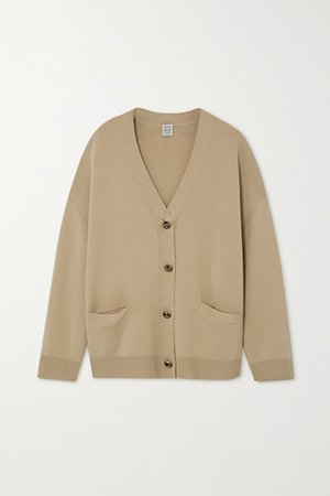 Merino Wool Cardigan - Beige