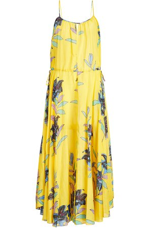 Printed Dress in Cotton and Silk Gr. L