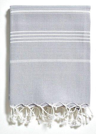 Turkish Beach Towel - Basic Grey — Delightfully Turkish