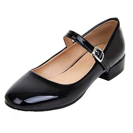 YE Femmes Mary Jane Escarpins Simple Bout Rond Escarpins Plate Chaussures en Vernis: Amazon.fr: Chaussures et Sacs