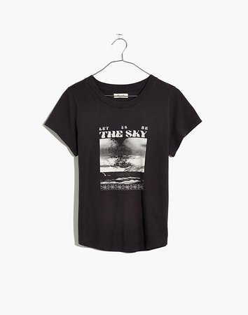 Let Us Be the Sky Graphic Shrunken Shirttail Tee