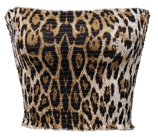 leopard ruched bandeau top