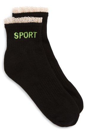 Sandy Liang Frill Sport Socks | Nordstrom