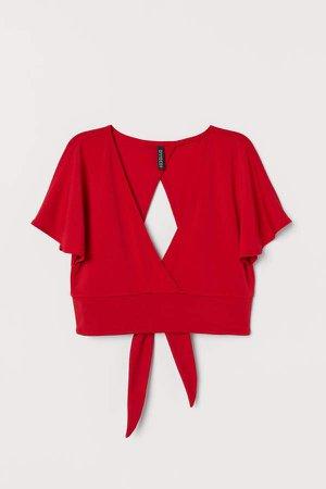 V-neck Top - Red