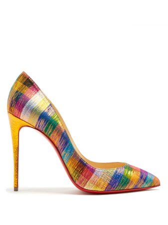 Rainbow Plaid Louboutins