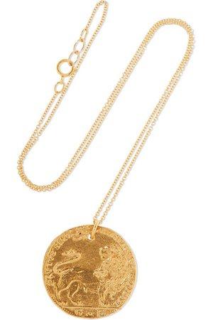 Alighieri | Il Leone Medallion gold-plated necklace | NET-A-PORTER.COM