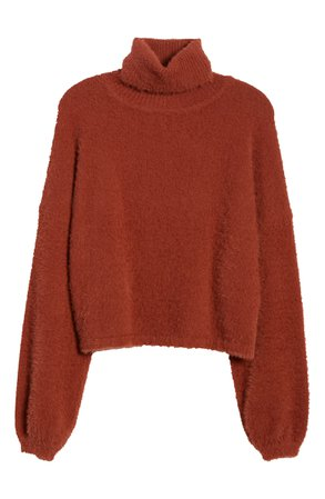 4SI3NNA Crop Turtleneck Sweater   Nordstrom