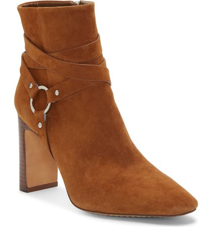 Vince Camuto Sestina Harness Square Toe Bootie (Women) | Nordstrom