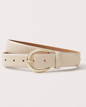 Women's Leather Belt | Women's New Arrivals | Abercrombie.com ivory