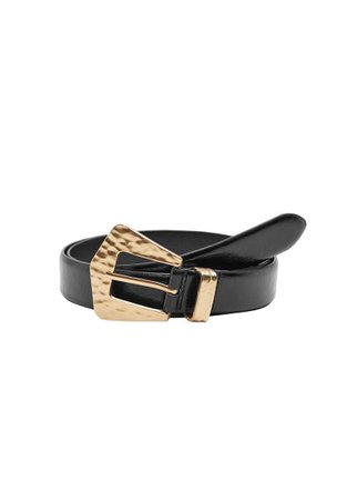 MANGO Embossed buckle belt