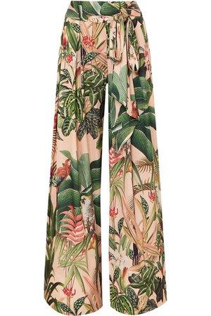 PatBO | Paradise printed stretch-crepe wide-leg pants | NET-A-PORTER.COM