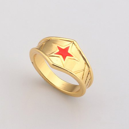 2017 Fashion Wonder Woman W logo Men and women Rings Golden crown Jewelry -in Rings from Jewelry & Accessories on Aliexpress.com | Alibaba Group