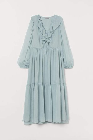 Long Tiered Dress - Turquoise