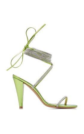Alexandre Vauthier lime crystal sandals
