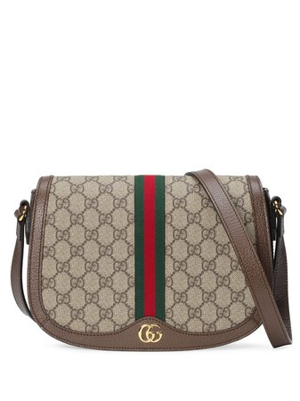 Shop brown Gucci Ophidia GG shoulder bag with Express Delivery - Farfetch
