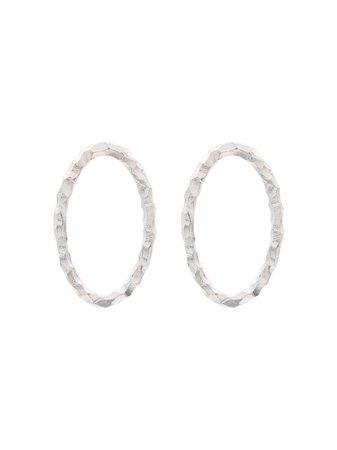 All Blues Medium Sterling Silver Hoop Earrings   Farfetch.com