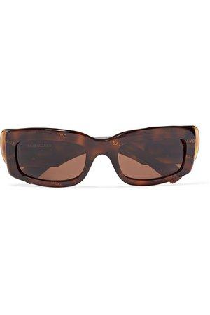 Balenciaga | Printed square-frame tortoiseshell acetate sunglasses | NET-A-PORTER.COM