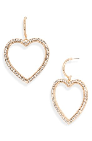 Rachel Parcell Pavé Heart Drop Earrings (Nordstrom Exclusive) | Nordstrom