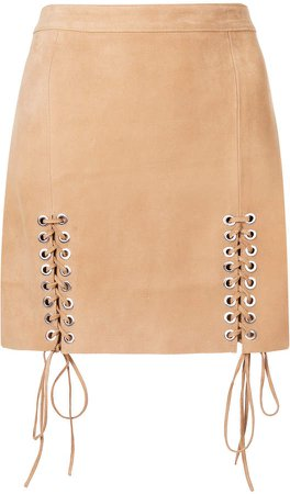 Manokhi lace-up detail skirt