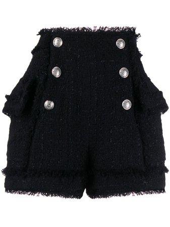 Shop black Balmain tweed shorts with Afterpay - Farfetch Australia