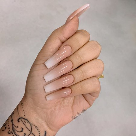 Nude Ombre Sculptured Nails