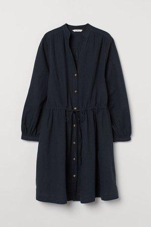 Linen-blend Dress - Black