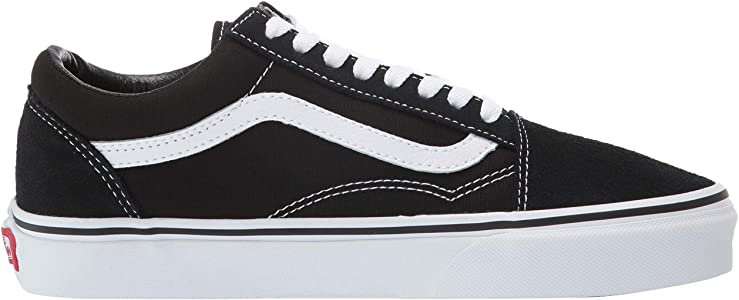 Amazon.com: Vans Unisex Old Skool Black/White Skate Shoe 8 Men US / 9.5 Women US: Clothing