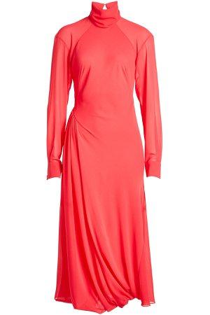 Draped Dress with Turtleneck Gr. UK 10
