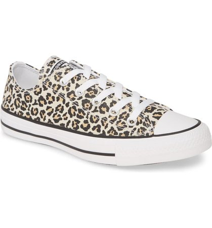 Converse Chuck Taylor® All Star® Leopard Print Low Top Sneaker (Women) | Nordstrom