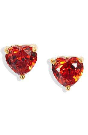Nordstrom 2ct tw Cubic Zirconia Heart Stud Earrings   Nordstrom