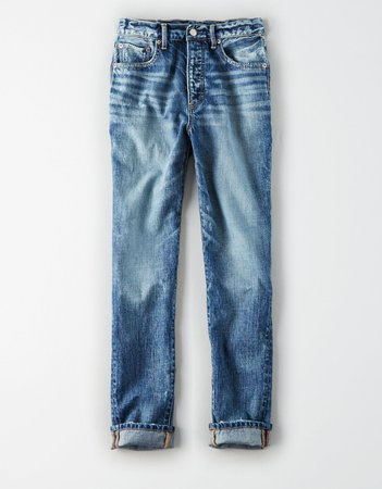High-Waisted Girlfriend Jean, Dark Stormy | American Eagle Outfitters