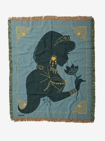 Disney Aladdin Princess Jasmine Silhouette Tapestry Throw Blanket