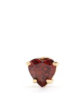Wouters & Hendrix garnet heart stud earrings - FARFETCH