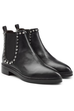 Leather Chelsea Boots with Studded Trim Gr. IT 38