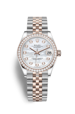 Rolex Datejust 31 Watch: Everose Rolesor - combination of Oystersteel and 18 ct Everose gold - M278381RBR-0026